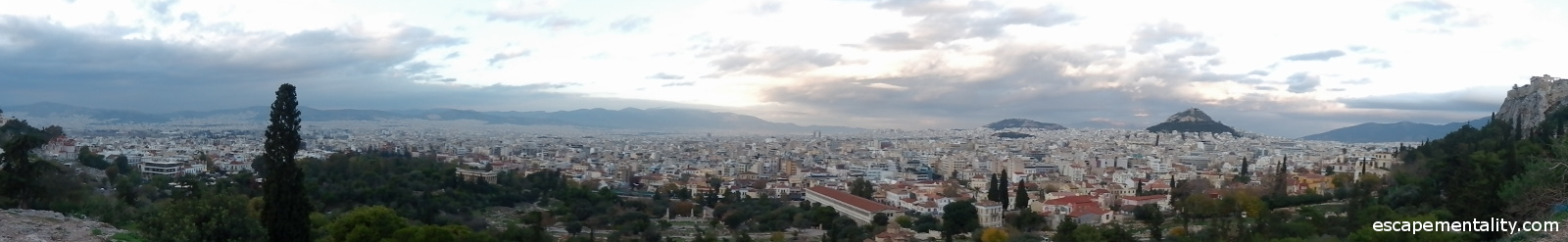 View of Athens from Areopagus hill