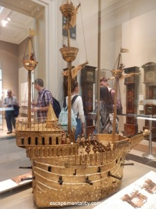 Clockwork boat in the British Museum